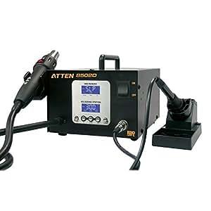 Lötstation und Heißluftstation kombiniert 800W zwischen 100-500 °C/Löten mit 50W zwischen 200-480°C Atten AT8502D
