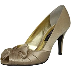 Nina Women's Forbes-Ys Peep-Toe Pump Gold 10 B(M) US