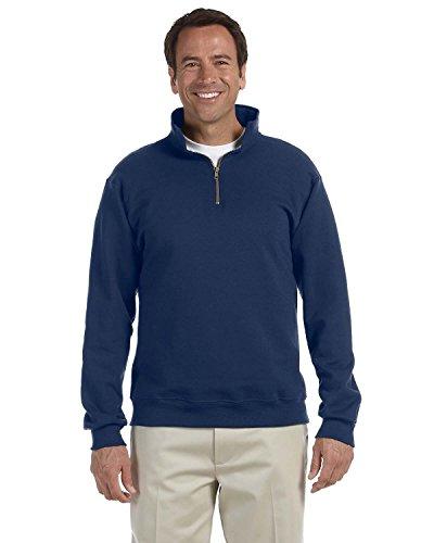Jerzees Mens Super Sweats 50/50 Quarter-Zip Pullover (4528) -J. Navy -S -