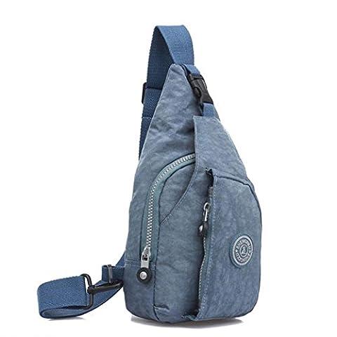 Kolylong Fashion Women Handbag Shoulder Bag Large Tote Ladies Chest Pack bag climbing bag (Light Blue)