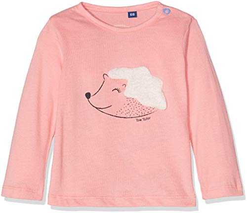 -Mädchen Langarmshirt T-Shirts 1/1 Rosa (Flamingo pink 2063), 80 ()