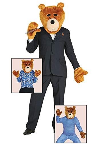 Magic Box Int. Ted Style Braunbär Kopf und Handschuhe