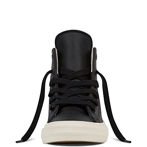 Converse Chuck Taylor All Star II Junior Black Leather Trainers Black