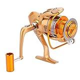 Tbest Angelrolle Spinnrolle Spinning Fishing Reel, 12BB Süßwassersalzwasser Spinnrad Ozean Meer Boot EIS Angelrolle Trolling Metall HF500-9000(HF7000)