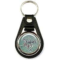 Porte clés homme, simili cuir noir, futur papa, naissance, famille, cadeaux, texte personnalisable, plaisir d'offrir