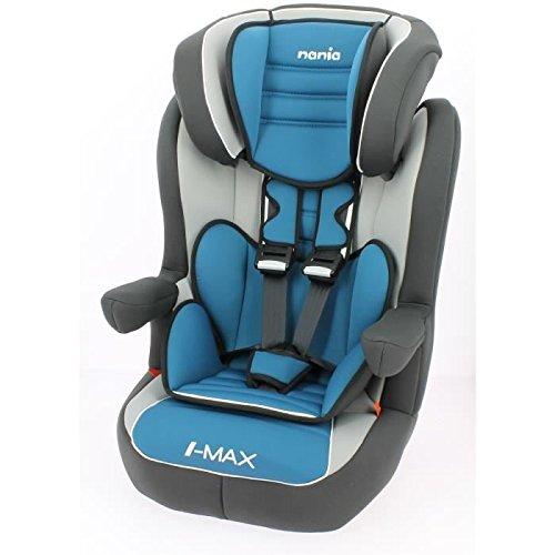 Nania Kinder Autositz mit Rückenlehne, Isofix, mit Gurten, 9?36kg, Blau Preisvergleich