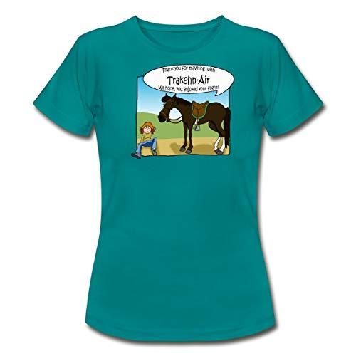 Spreadshirt Trakehner Frauen T-Shirt, XXL, Divablau