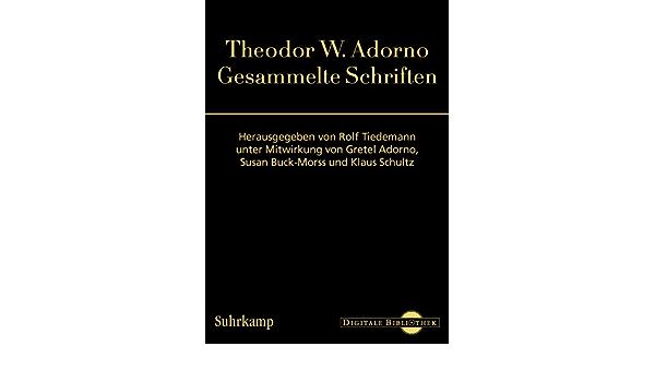 Adorno gesammelte schriften tiedemann investment network rail investment in stations