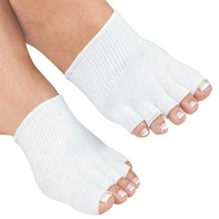 gel-toe-socks-by-amg-seperate-straighten-cushion-protect-1-pair-of-white-comfy-socks