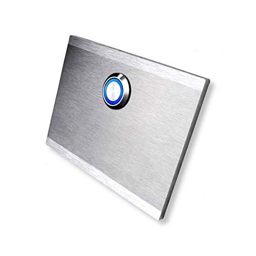 Klingelplatte Edelstahlklingel Haustürklingel Klingel Türklingel Edelstahl mit LED