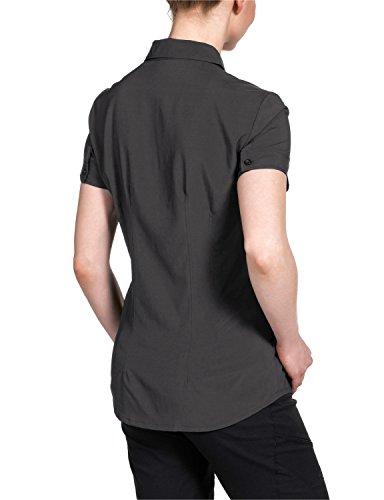 Jack Wolfskin Damen Bluse Track Shirt Dark Steel
