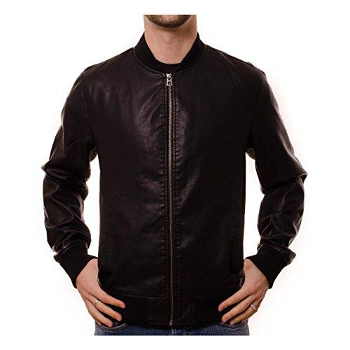 Giubbotto bomber ecopelle Jack e Jones originals 12121355 nero giacca P/E 2017 - Taglia M