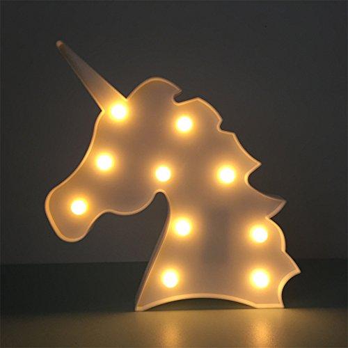 Nachtlicht Kinder, Nachttisch SüßE Nachttischlampe Children Night Light Deko Kinder MäDchen Babytisch Spielzeug Schlafzimmer Led-Nachtlicht FüR Kinder/Babys Cartoon Orientierungslicht Einschlafhilfe (Weiß Einhorn)