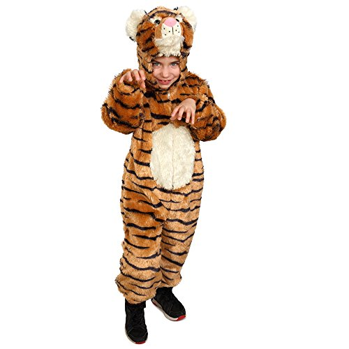 Dress Up America Kleinkinder Kinder gestreiften Tiger Kostüm Rollenspiel Overall - Dress Up Kostüm Für Kleinkind
