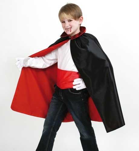 Vampir Dracula Umhang m Schärper 128/140 - 152/164 (Hexe Kostüme Für Jungen)