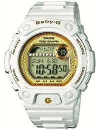 Casio Baby-G - Reloj digital de mujer de cuarzo con correa de resina blanca (alarma, cronómetro, luz) - sumergible a 200 metros