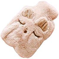 PROKTH Wärmflasche Gummi Transparent Mit Knit Cover Tragbare Handwärmer Wasserflasche für Schmerzlinderung preisvergleich bei billige-tabletten.eu