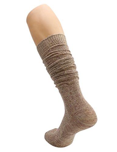 KUULEE Trachtensocken Trachtenstrümpfe Socken Herren Kniestrümpfe in 2 Farben für das Oktoberfest - 4