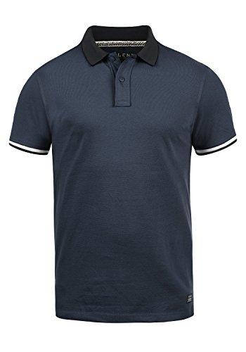 Blend Prato Herren Poloshirt Polohemd T-Shirt Shirt Mit Polokragen Aus 100% Baumwolle, Größe:M, Farbe:Mood Indigo Blue (74648) -