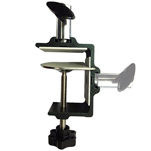 Tencro [Heavy Duty] Zwei-Wege-Metall Tischklemme Mic / Tablet Scissor Arm Ständer Halterung Clamp Desktop Lampe Arbeitslicht Montage C-Clamp, passt bis zu 6.3cm Desktop & 1.27cm Base Bar
