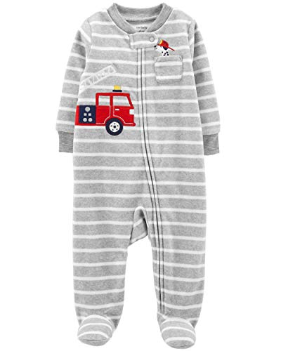 Carter's Baby Jungen (0-24 Monate) Schlafstrampler Multi Gr. Baby, grau Carters Overall