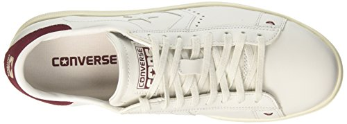 Converse Pro Leather Lp Ox, Sneaker a Collo Basso Uomo Bianco (White Dust/Maroon/Snow White)