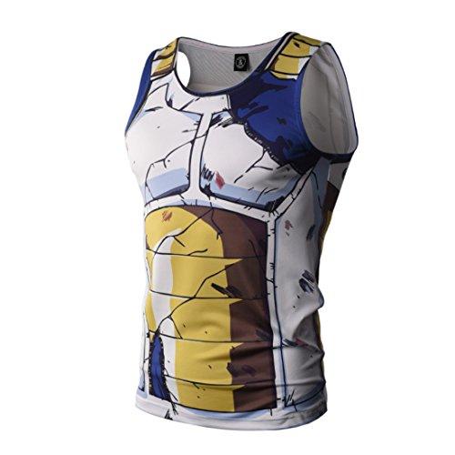 Men's The Dragon Ball Z Printed Sleeveless Casual Vest
