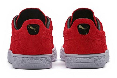 Puma Chaussures en Daim Classiques Pour Hommes Berlin Flame Scarlet/Flame Scarlet