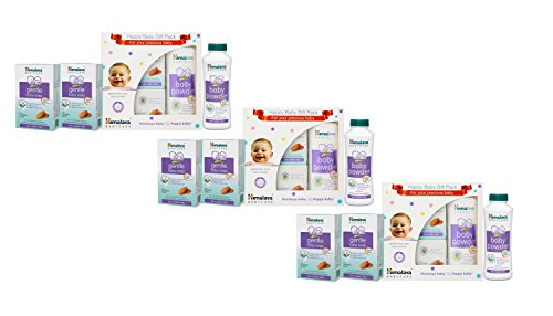 Himalaya Herbals Babycare Gift Box - Mini (Soap and Powder)-Pack of 3- 6 Soaps (75gms Each) and 3 Powder (100 gms Each)  available at amazon for Rs.315