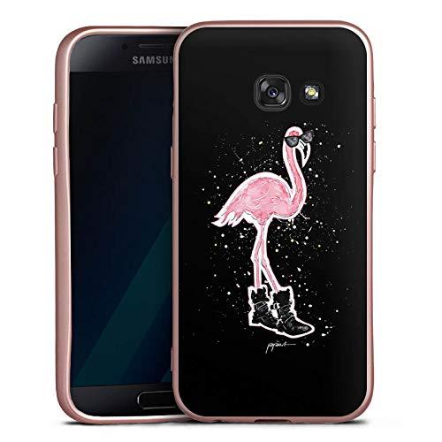 DeinDesign Silikon Hülle Rosé Gold Case Schutzhülle kompatibel mit Samsung Galaxy A5 Duos 2017 Flamingo Sonnenbrille Shoes