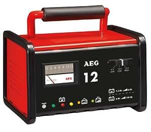 AEG Automotive AEG 97009 Werkstatt-Ladegerät WM 12 Ampere für 6 und 12 V Batterien, CE, IP 20