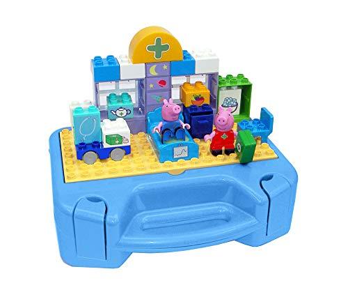 Big - Spielwarenfabrik 800057144 Big-Bloxx Peppa Pig - Maletín de Juguete, Color Azul, Rosa, Verde, Amarillo y Gris