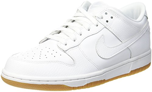 Nike Damen Wmns Dunk Low Gymnastikschuhe, Weiß (White-Pure Platinum-Gum Lt Brown), 39 EU (Dunk Frauen Schuhe)