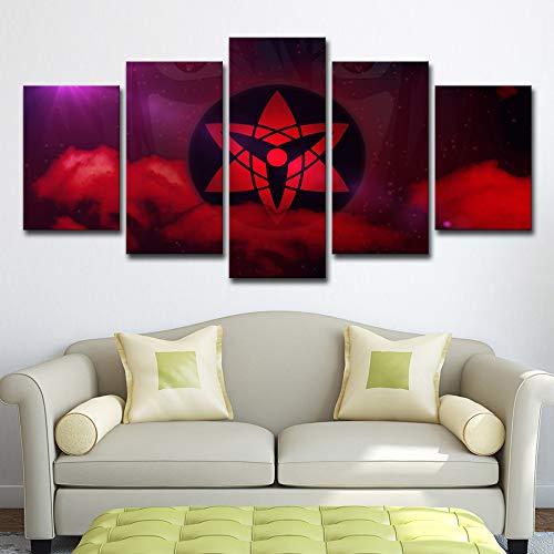 Poster Leinwand Moderne Rahmen Malerei Wandbilder Für Wohnzimmer 5 Stücke Animierte Naruto Cartoon Dekorative Modulare Bilder kein rahmen M: 10X15-2P10X20-2P10X25-1P