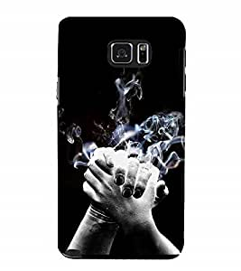 Nextgen Designer Mobile Skin for Samsung Galaxy Note 5 :: Samsung Galaxy Note 5 N920G :: Samsung Galaxy Note5 N920T N920A N920I (Joining Hands Joined Hands Smoky Hands Black Smoke From HAnds)