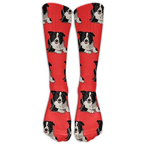 Meius Socks Uwear Border Collie Socken für Damen und Herren, Halbwadenstrümpfe, Einheitsgröße