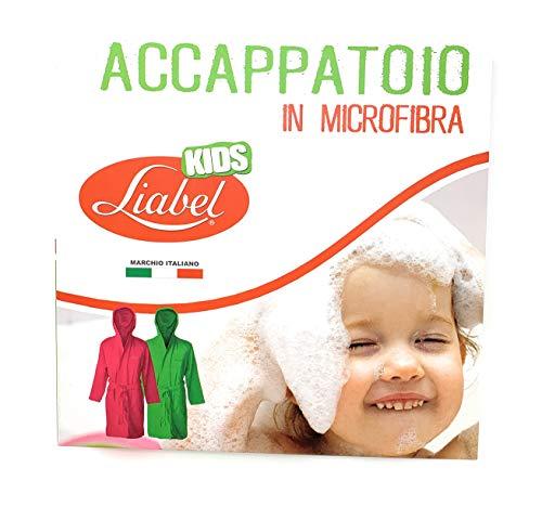 Liabel Accappatoio Microfibra Bimbo/Bimba Tutte Le Taglie (Azzurro, 2/4)