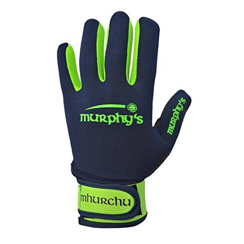 Murphy's Gälische Sprache Handschuhe-Youth-Marineblau/Limette, Navy - Youth Fußball-handschuhe Blau