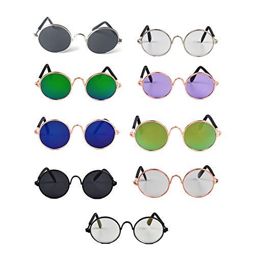 Clluzu Katze Brille Kreative Trend Heimtierbedarf Neuheit Lustige Welpen Sonnenbrille Niedlichen Stil Mode Bunte 9 STÜCKE
