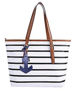 Coofit Ladies Handbags PU Leather Shoulder Bag Shopping Bag Women Shopper Tote Bag