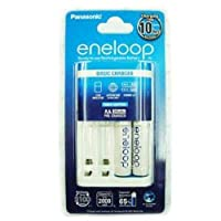 Panasonic Individual Battery Charger including 2 pre-charged eneloop AA 2000 mAh Cycle Rechargeable Batteries