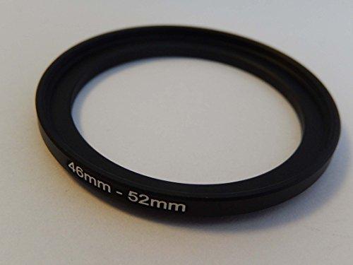 vhbw Step UP Filter-Adapter 46mm-52mm schwarz für Kamera Agfa, Agfaphoto, Canon, Casio, Fujifilm, Kodak, Minolta, Nikon, Olympus