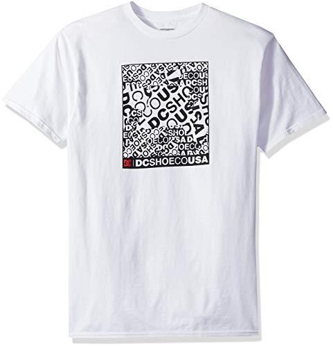DC Herren Cover UP Short Sleeve T-Shirt, schneeweiß, XX-Large (Cover Sleeve Short Up)