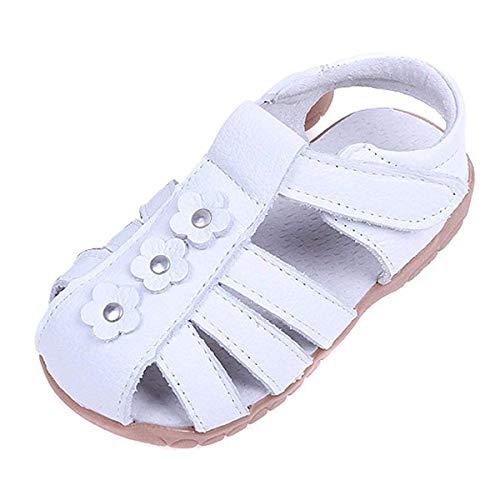 Sandalias con Punta Cerrada para Niña,Suave Infantiles Antideslizante del Zapato con Velcro...