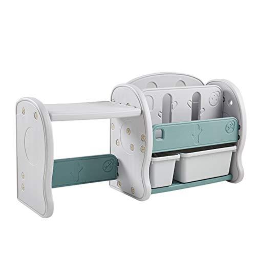 Baby- & Kindermöbel Kinder Spielzeug Lagerregal Baby Zimmer Schließfach Kinderzimmer Kunststoff Bücherregal Junge Mädchen Schlafzimmer Cartoon Regal (Color : Gray, Size : 126cm*35cm*48cm)