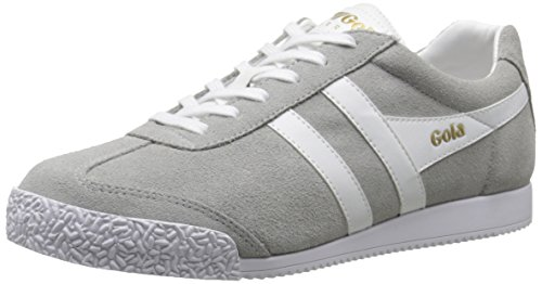 Gola Damen Harrier Suede Sneakers, Grau (Grey/White), 39 EU Suede Frauen Sneaker