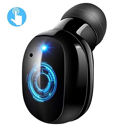 VICTSING Mini Auricular Bluetooth Inalámbrico, Control Táctil, Invisible Mini Bluetooth 4.2 Earbud, 6 Horas de Reproducción, Micrófono Incorporado, con USB Magnéticos Manos Libres para Coche y Móvil