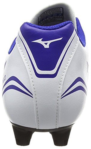 Mizuno Morelia Neo Cl Md, Chaussures de Rugby homme Blanc - White (White/Surf the Web/Chinese Red)