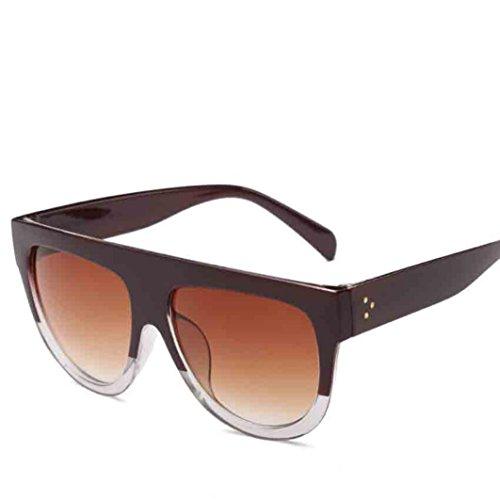 ?Amlaiworld Unisex sommer Groß bunt Gläser sonnenbrillen herren damen Polarisierte Sunglasses reflektierenden UV400 Linse Mode outdoor strand brillen (J)