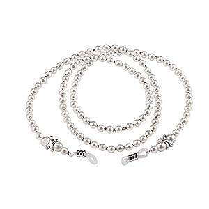 Frauen Handgemachte Mode Nachahmung Perle Perlen Brillen Eyewears Sonnenbrille Gurt Seil Lesebrille Kette Kabelhalter
